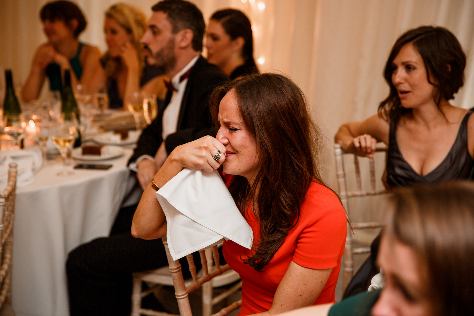crying wedding guest