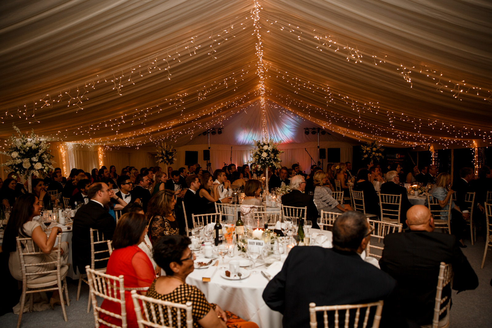 marquee wedding at middle stanley