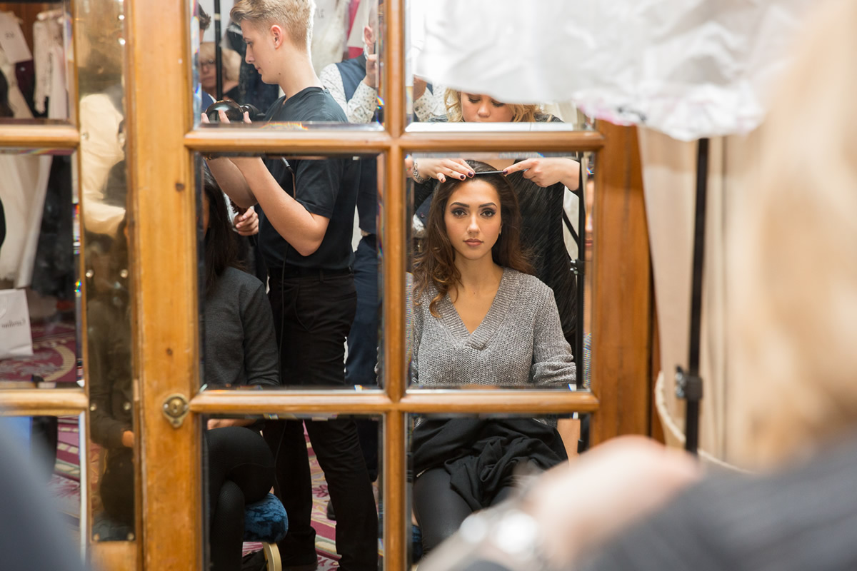 behind the scenes at caroline castigliano wedding dress show
