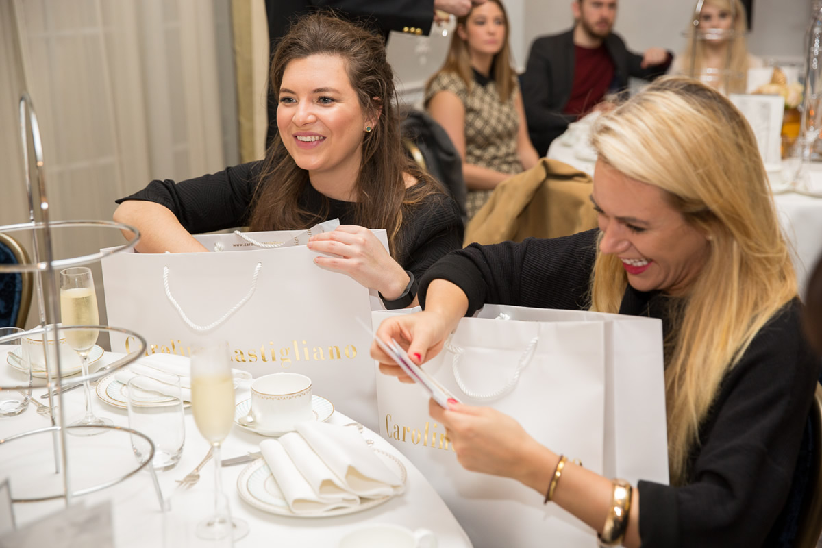 bride winning caroline castigliano goody bag