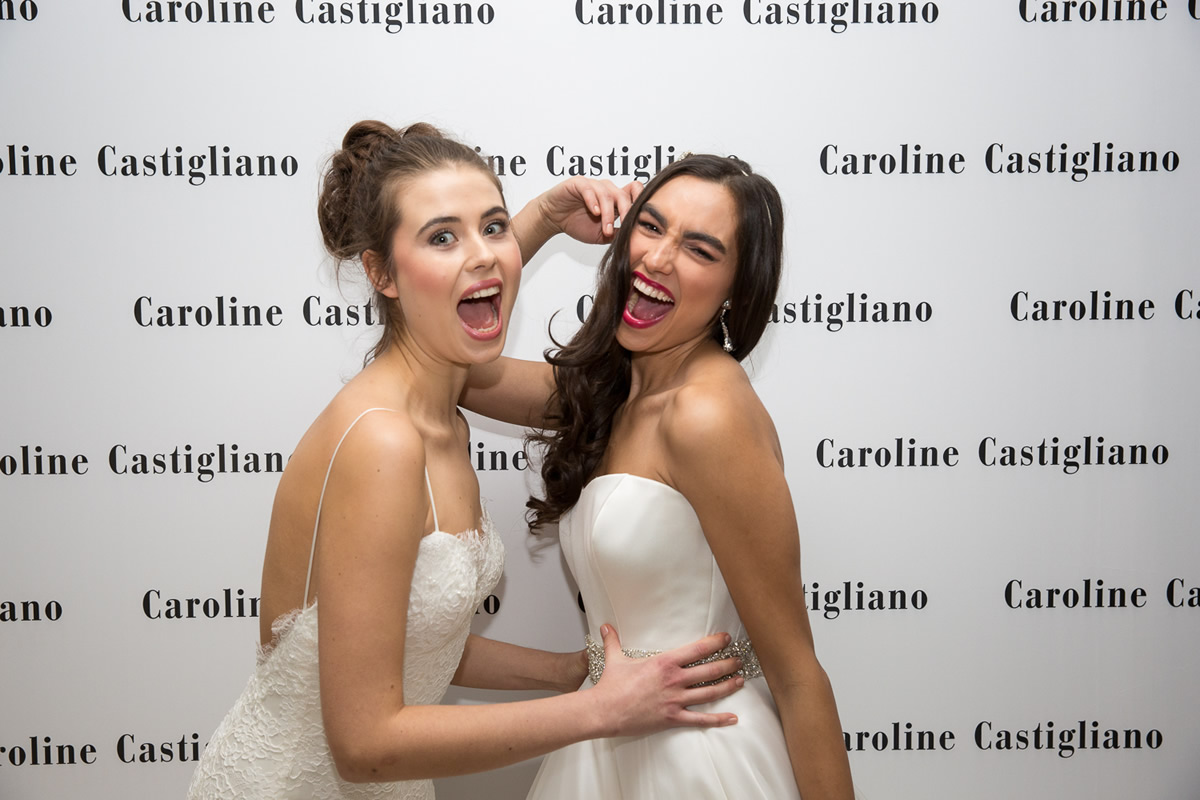 models in caroline castigliano wedding dress