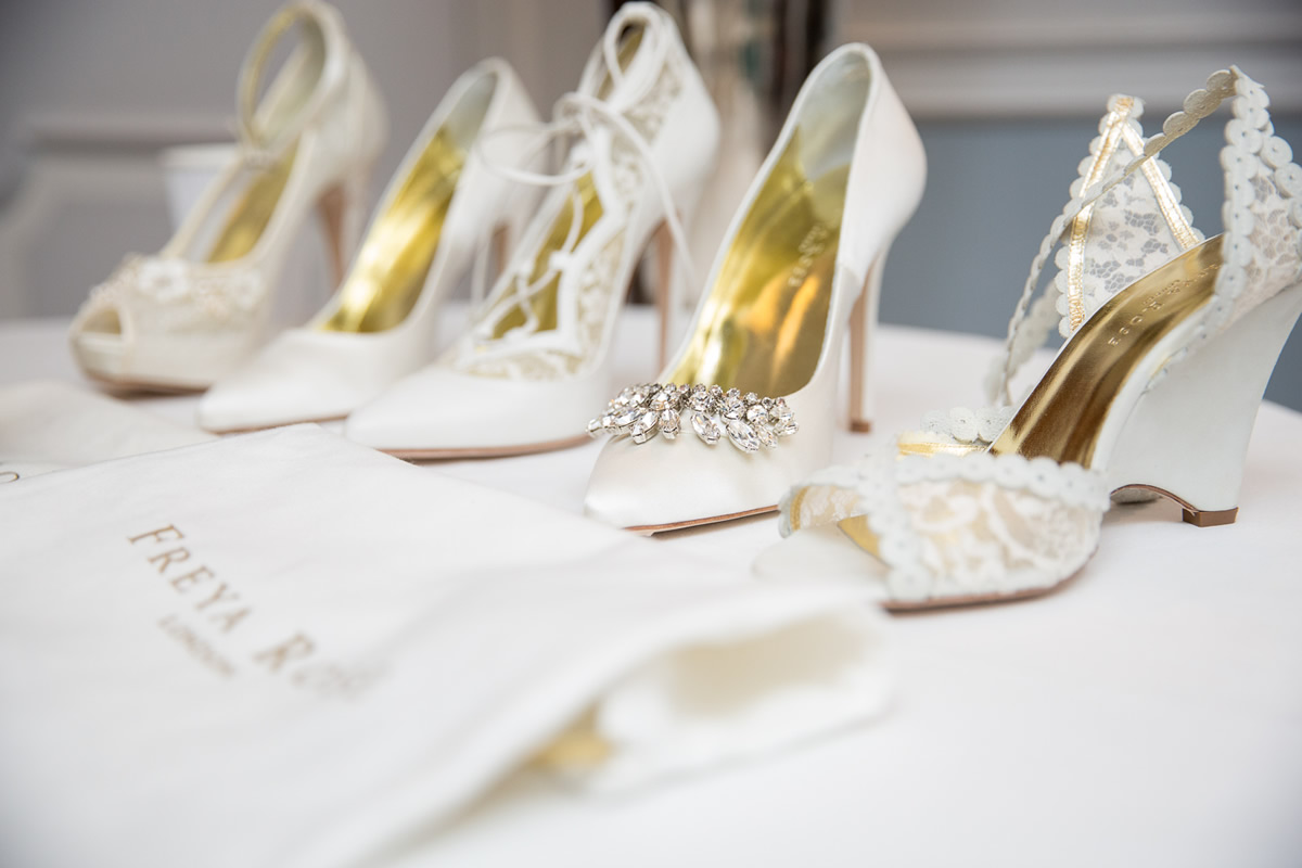 bridal shoes at Caroline Castigliano show