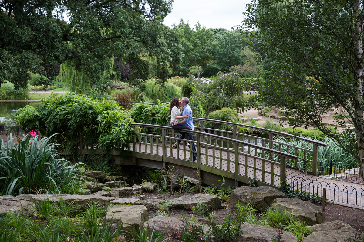 photograph of couple in regents park