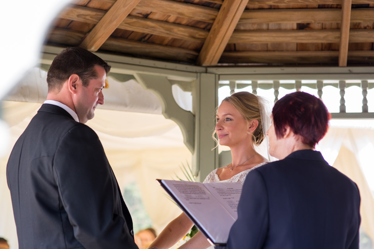 vows outside at chapel down winery