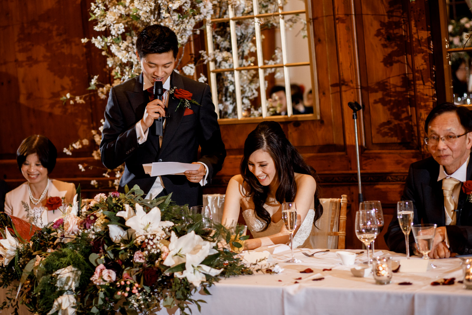 wedding reception speeches at hedsor house