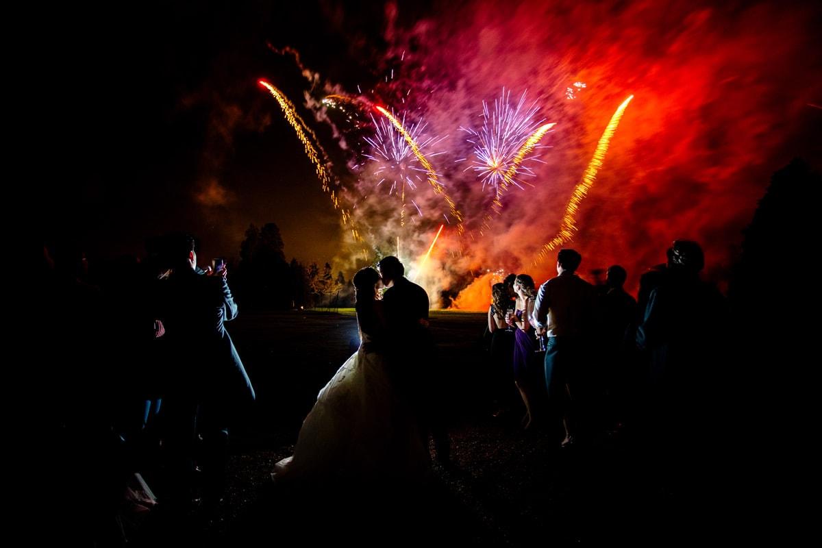fireworks at hedsor house wedding