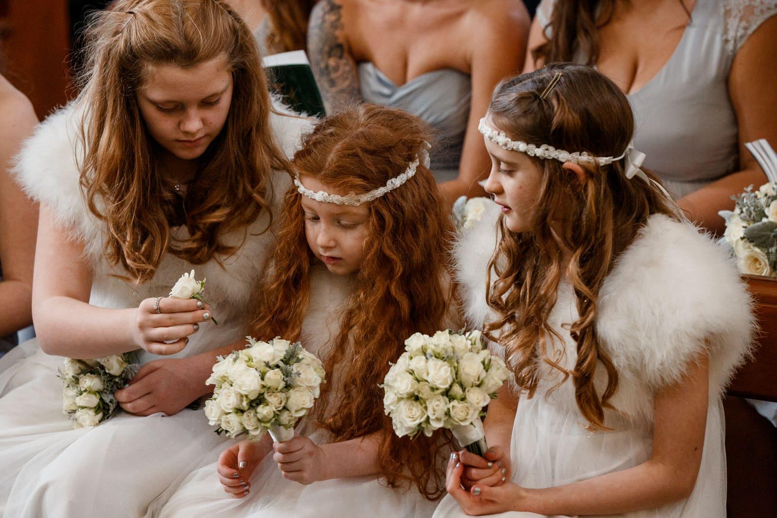 bridesmaids at pembroke lodge wedding