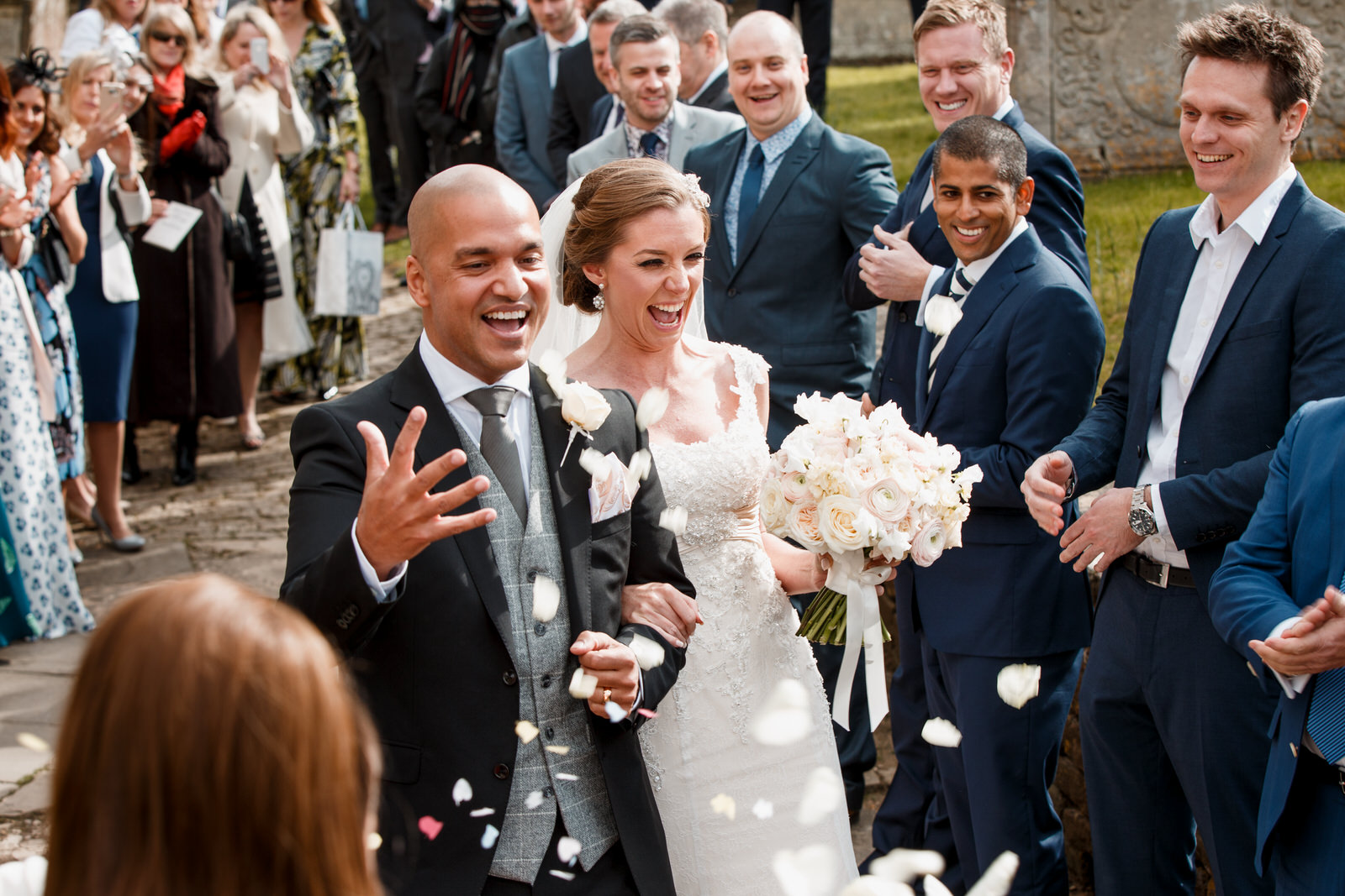 confetti shot at Bowood Hotel Wedding