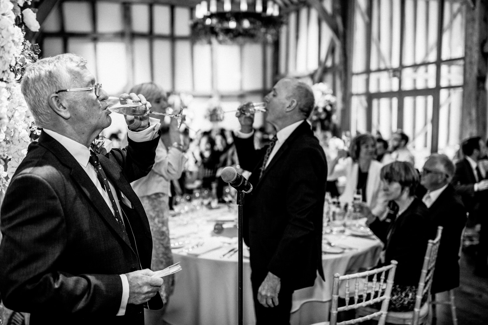 toast at micklefield hall wedding