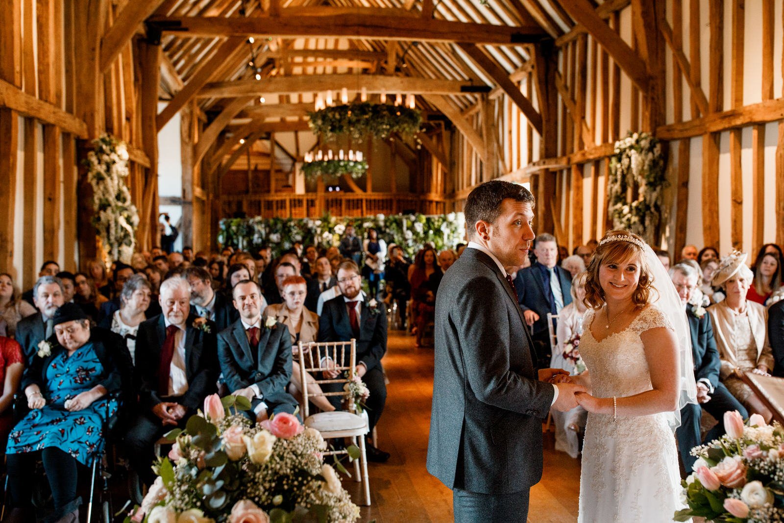 photograph of bride and groom at a wedding in micklefield hall