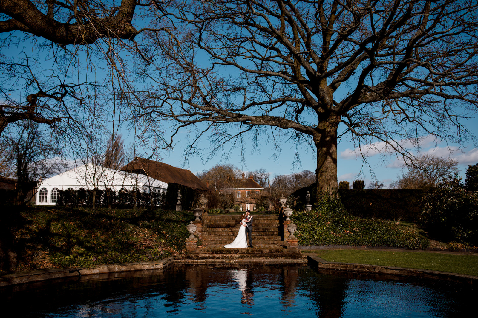 newlyed photograph at micklefield hall wedding