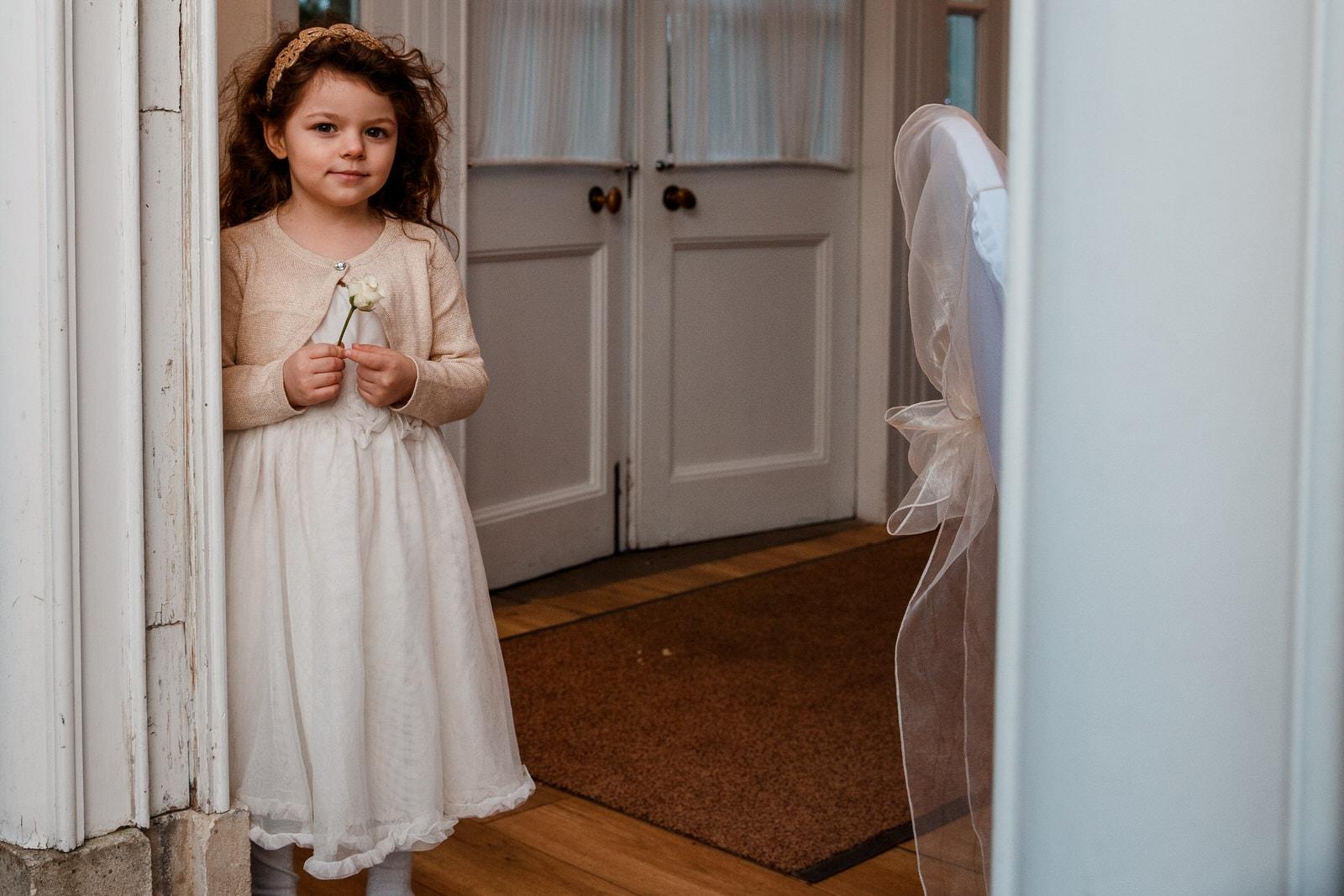 bridesmaid at pembroke lodge wedding venue