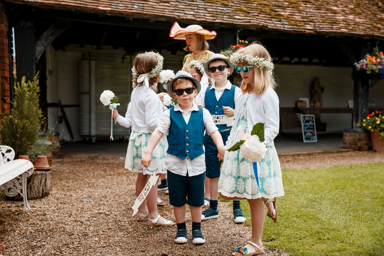 flower girls and boys at lillibrooke manor wedding