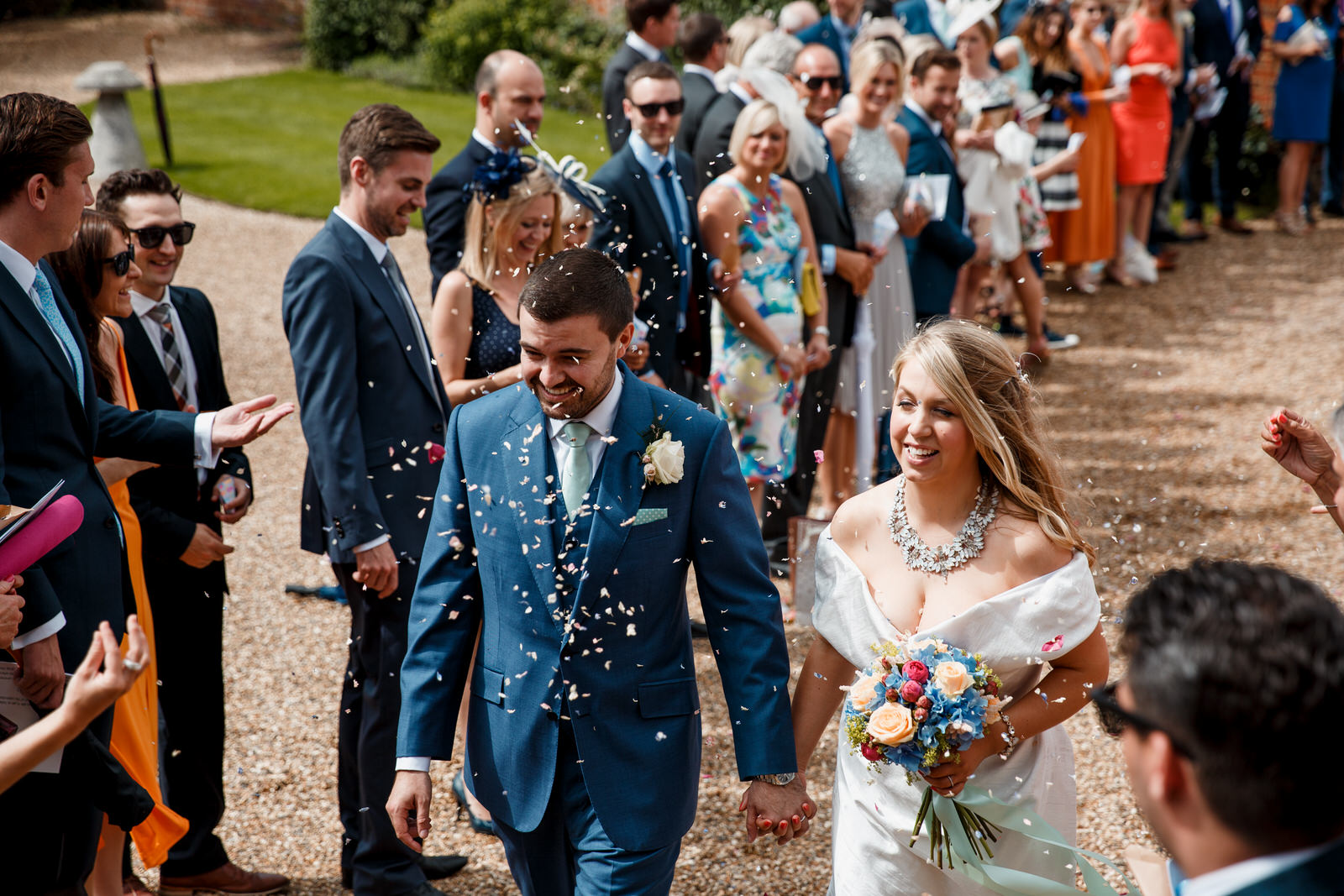 confetti shot at lillibrooke manor wedding