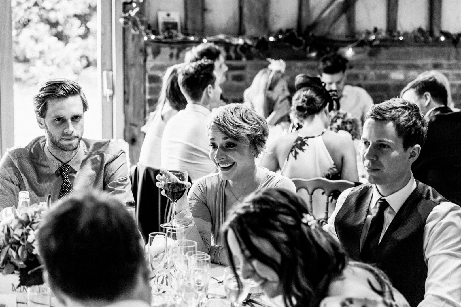 guests laughing at lillibrooke manor