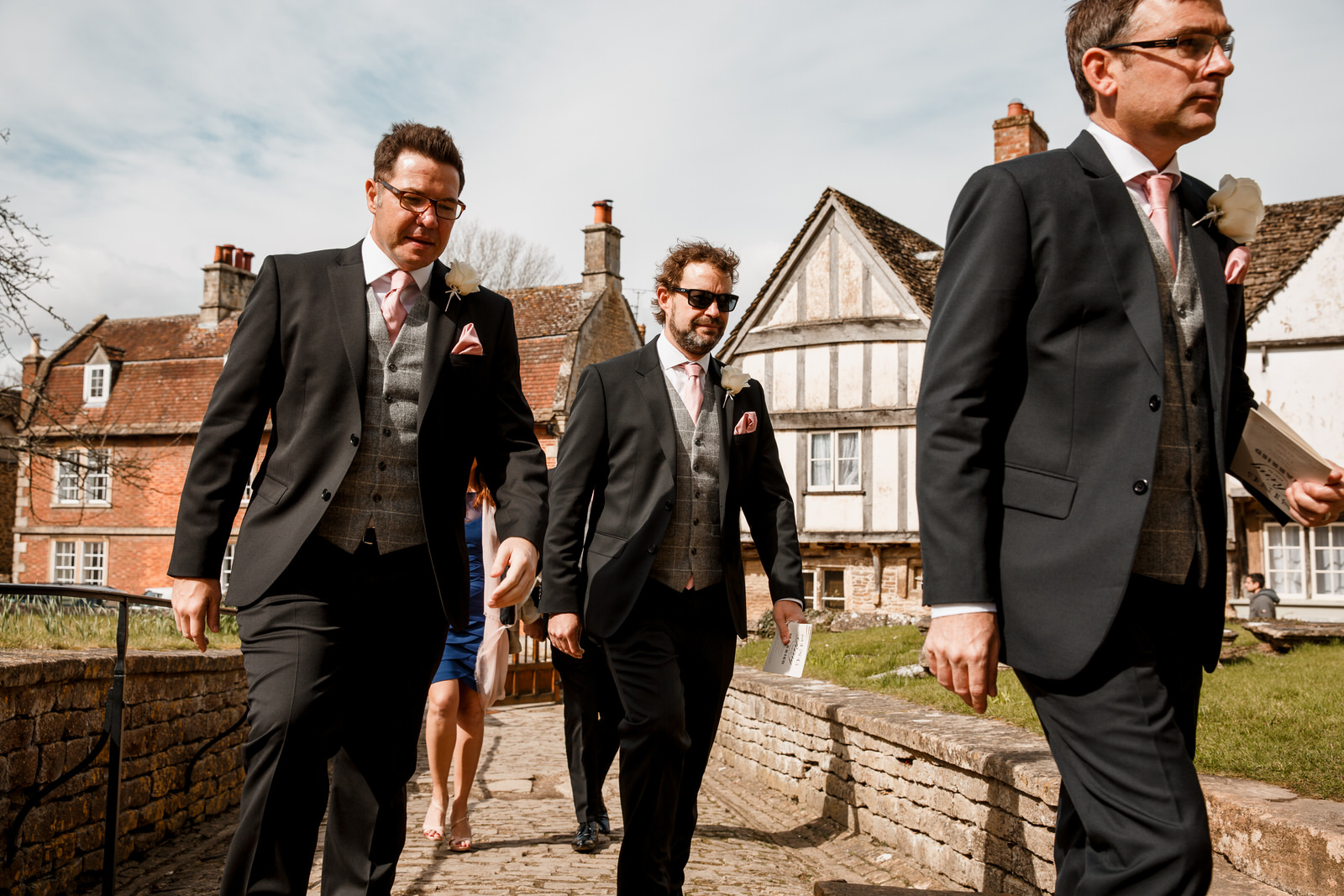 ushers arriving at bowood hotel wedding