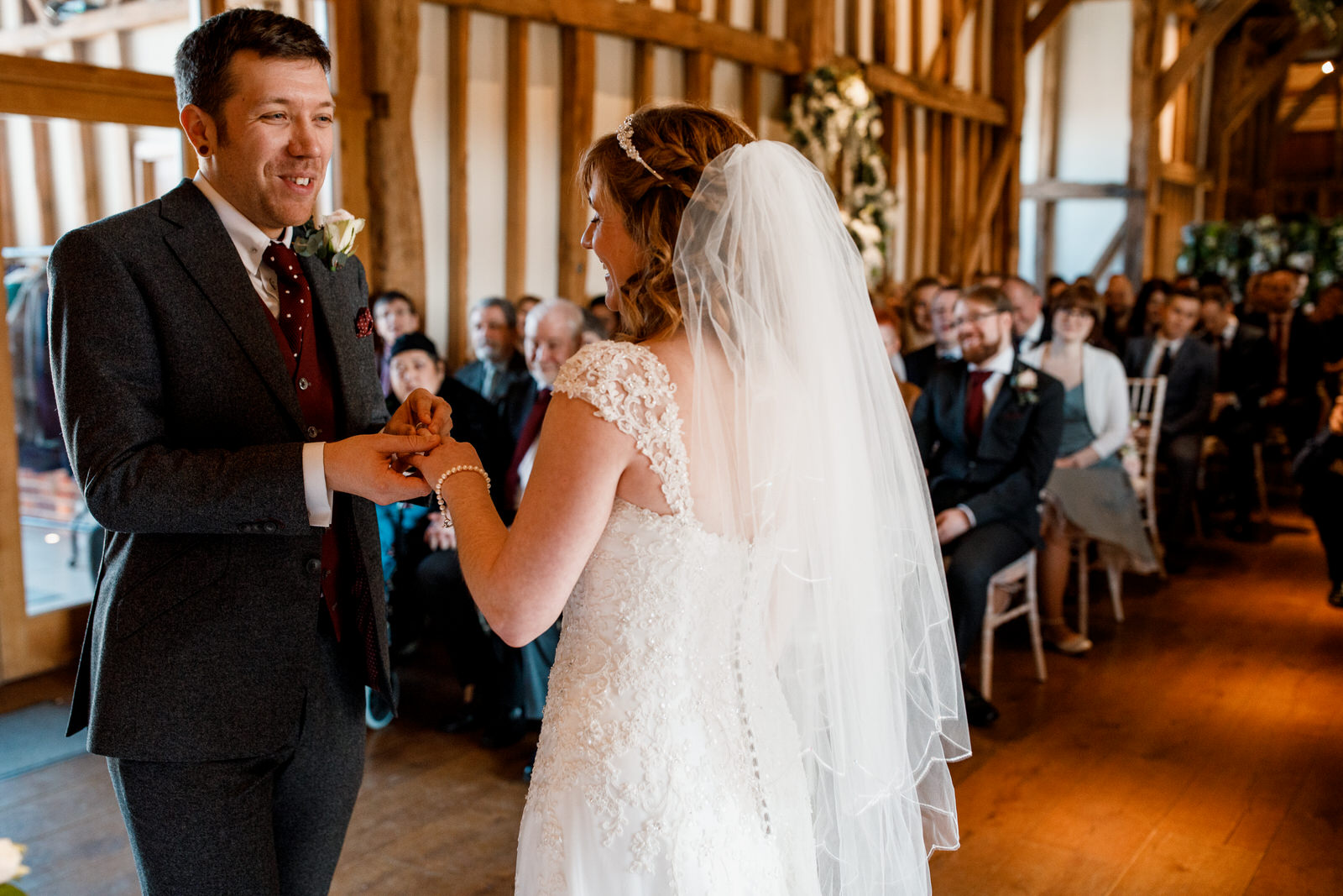 exchanging of rings at micklefield hall