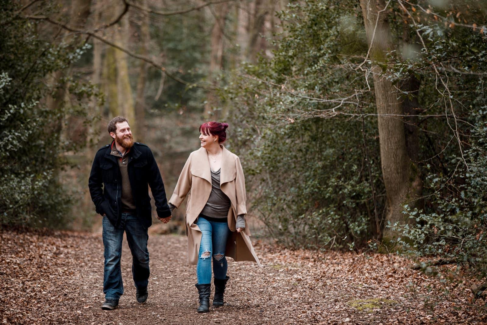 pre-wedding photography in Burnham Beeches