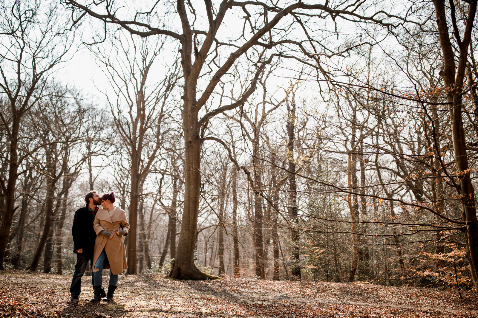 engagement shoot in burnham beeches