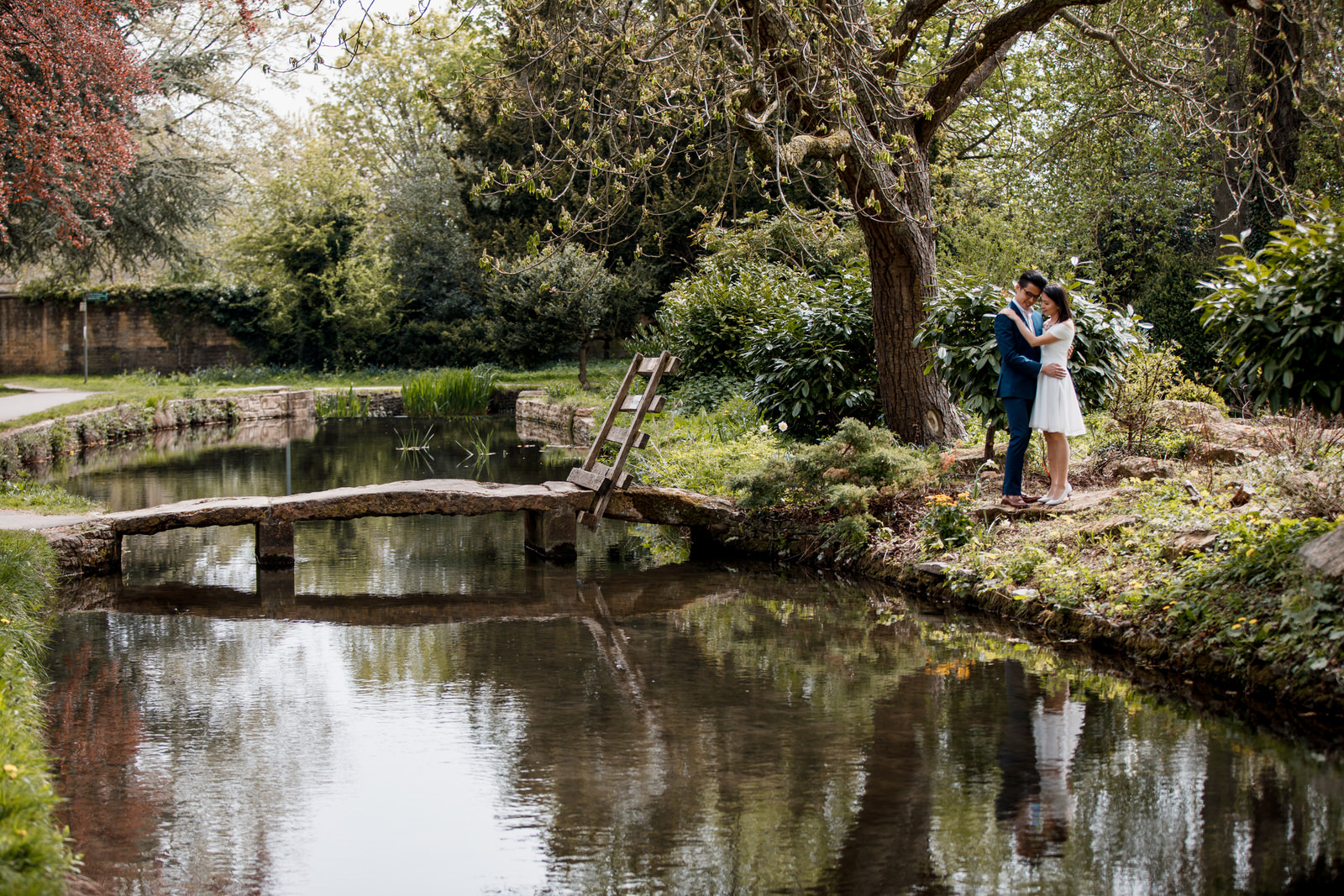 couple at engagement shoot in cotswolds