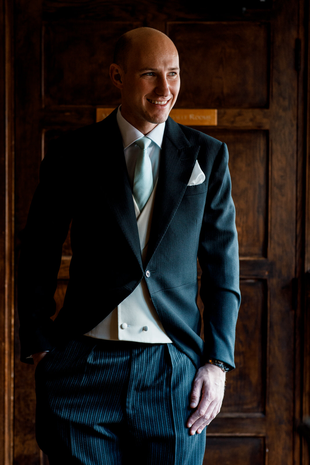 groom portrait at great fosters