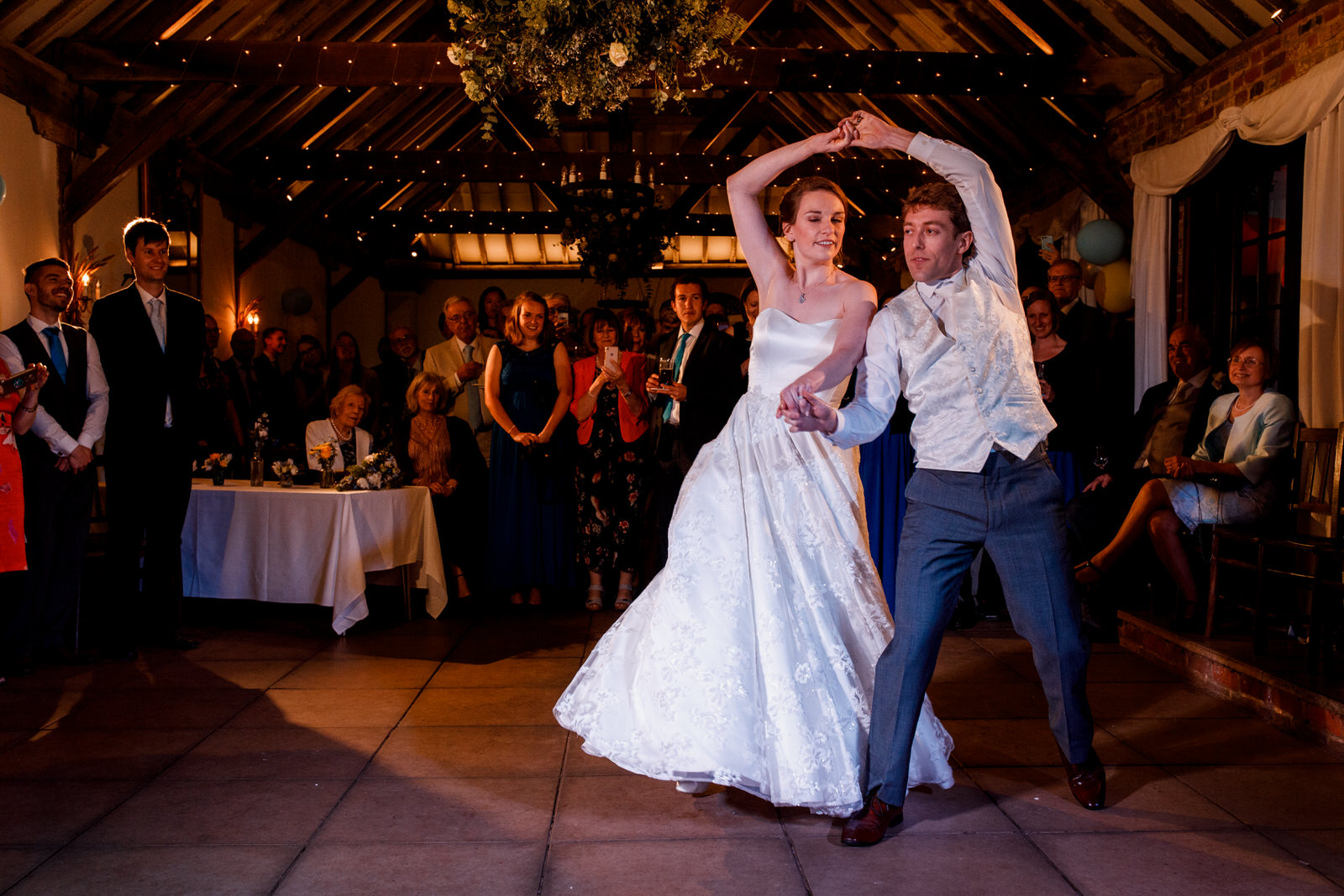 wedding party at chenies manor house