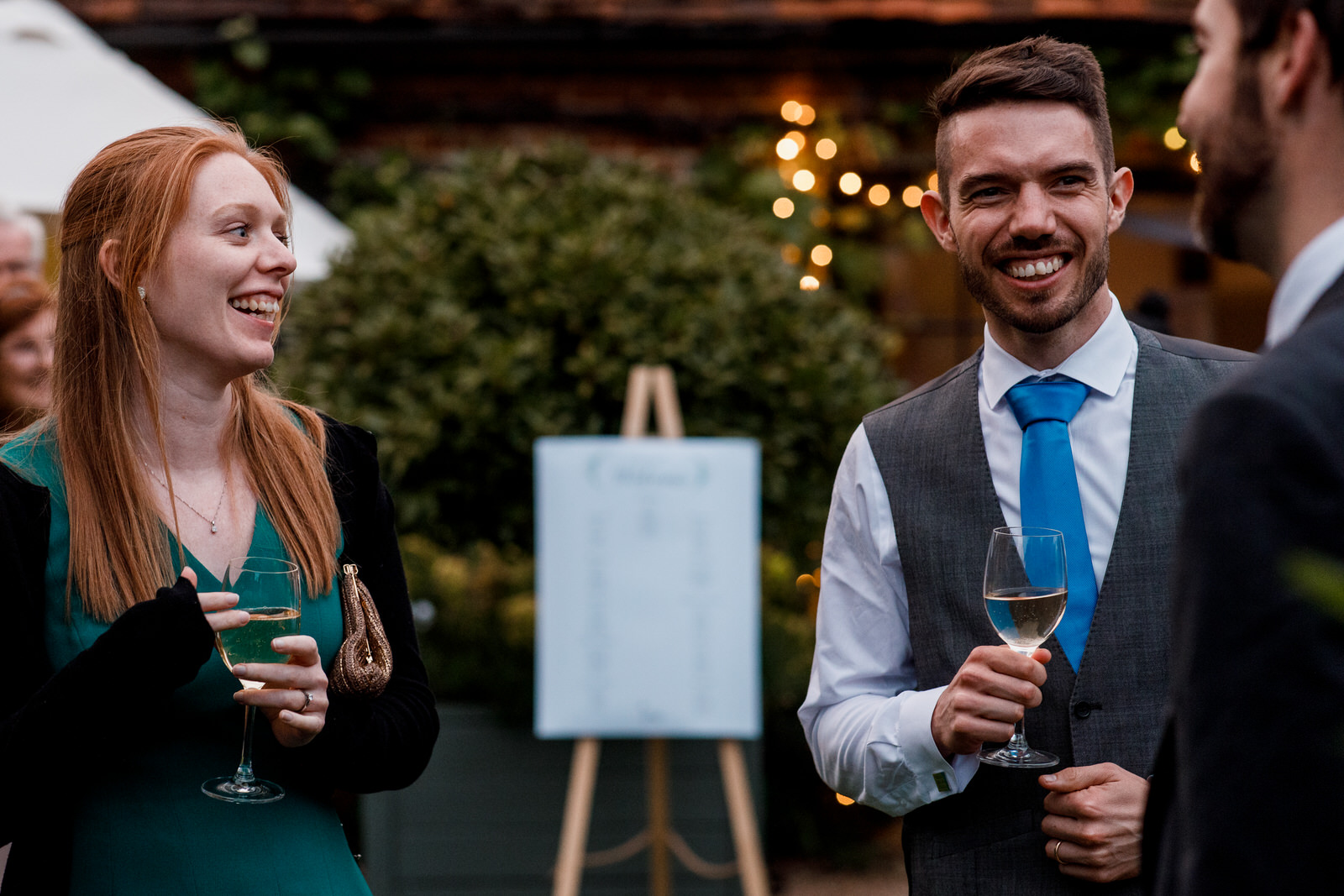 wedding guests at chenies manor