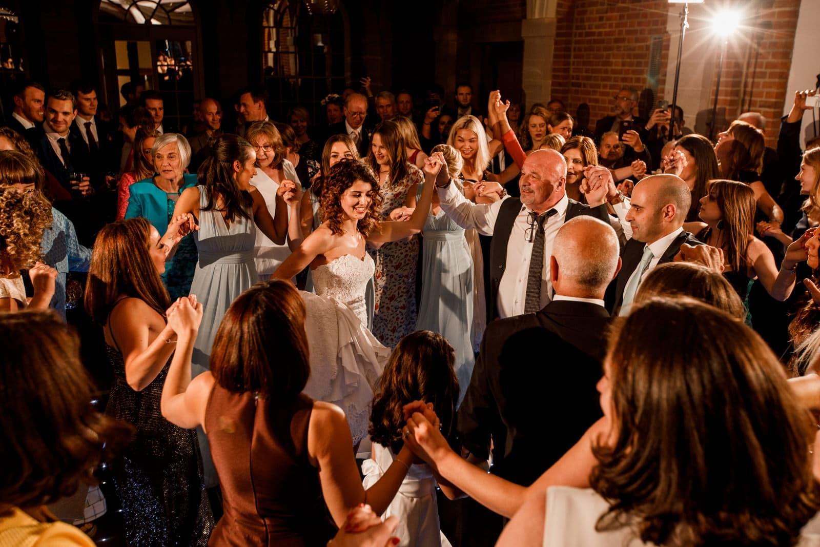 greek dancing at wedding