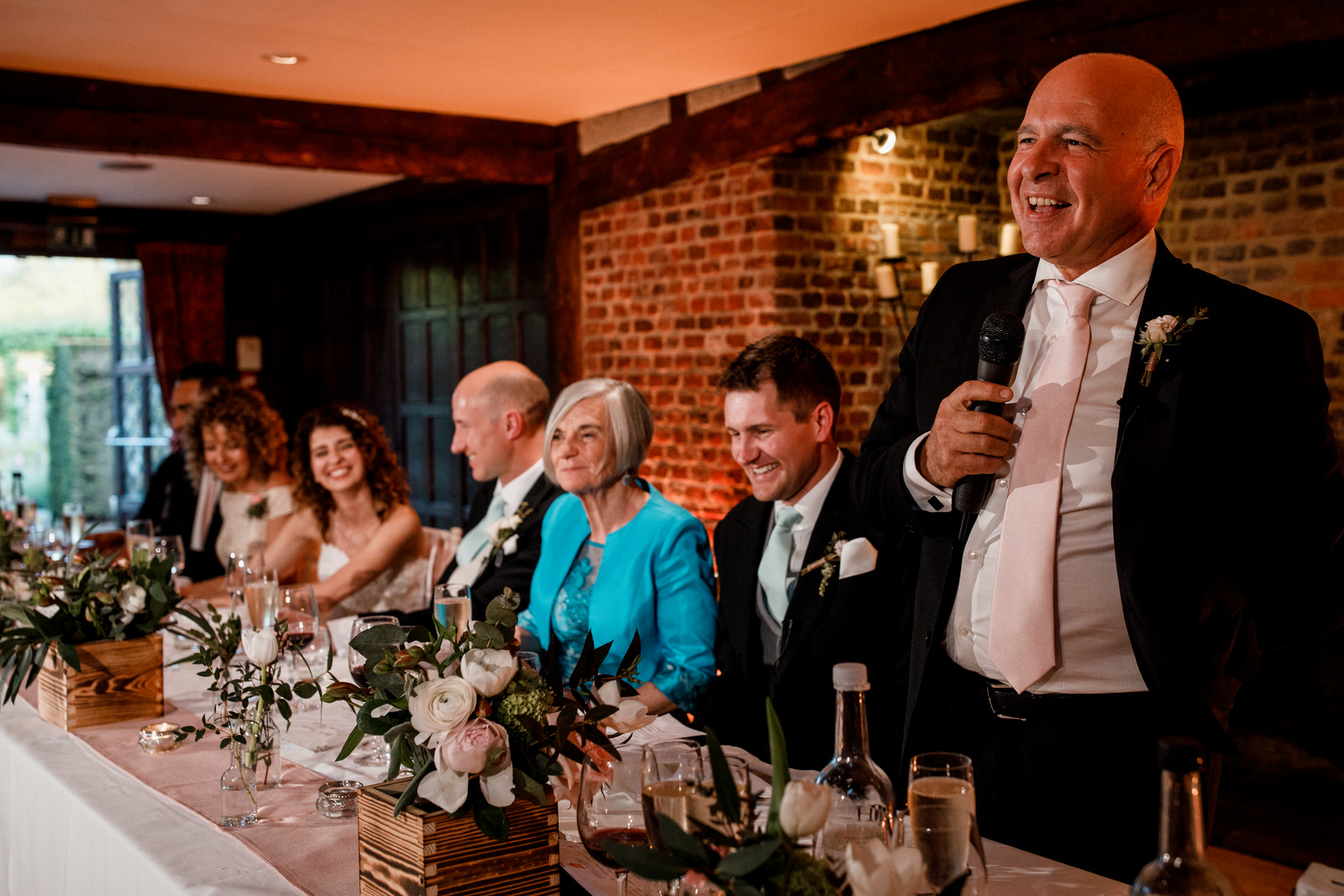 speeches at great fosters wedding