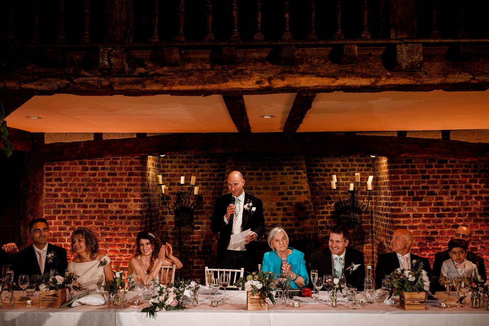 best man speech at great fosters wedding