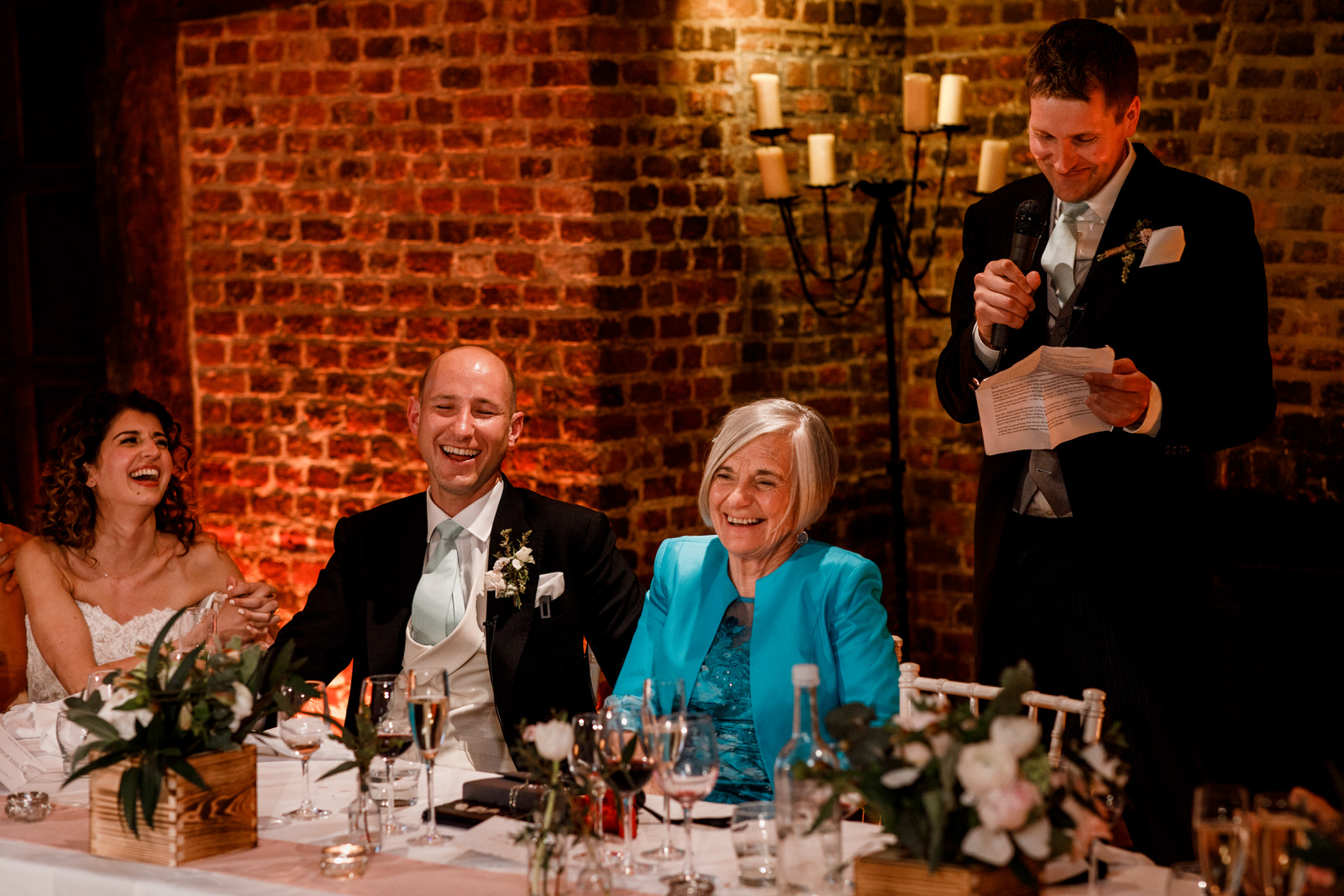 groom speech at great fosters wedding