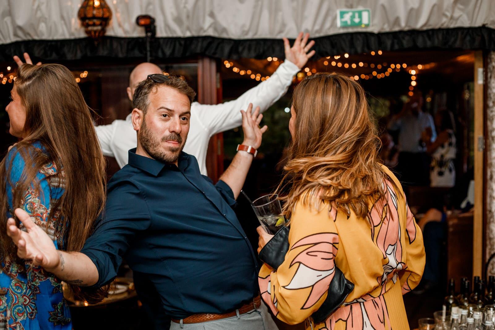 dancing at crazy bear wedding