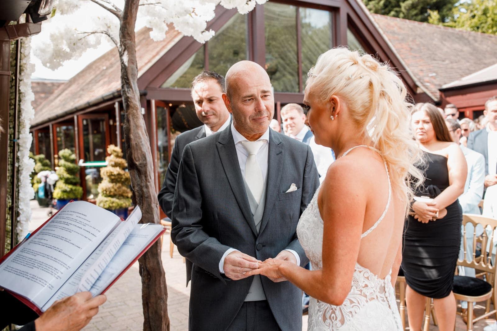 exchanging of rings at wedding