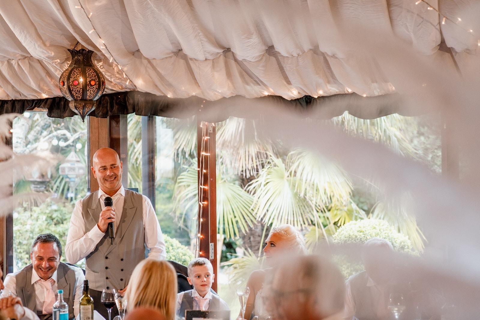 grooms speech at the crazy bear wedding