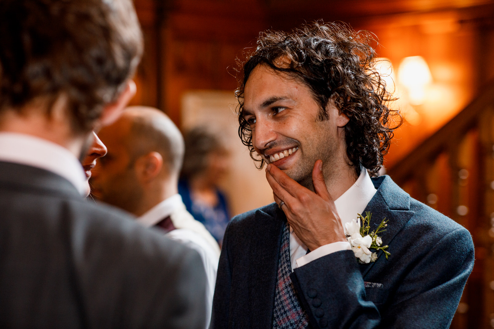 groom at ashdown hotel wedding
