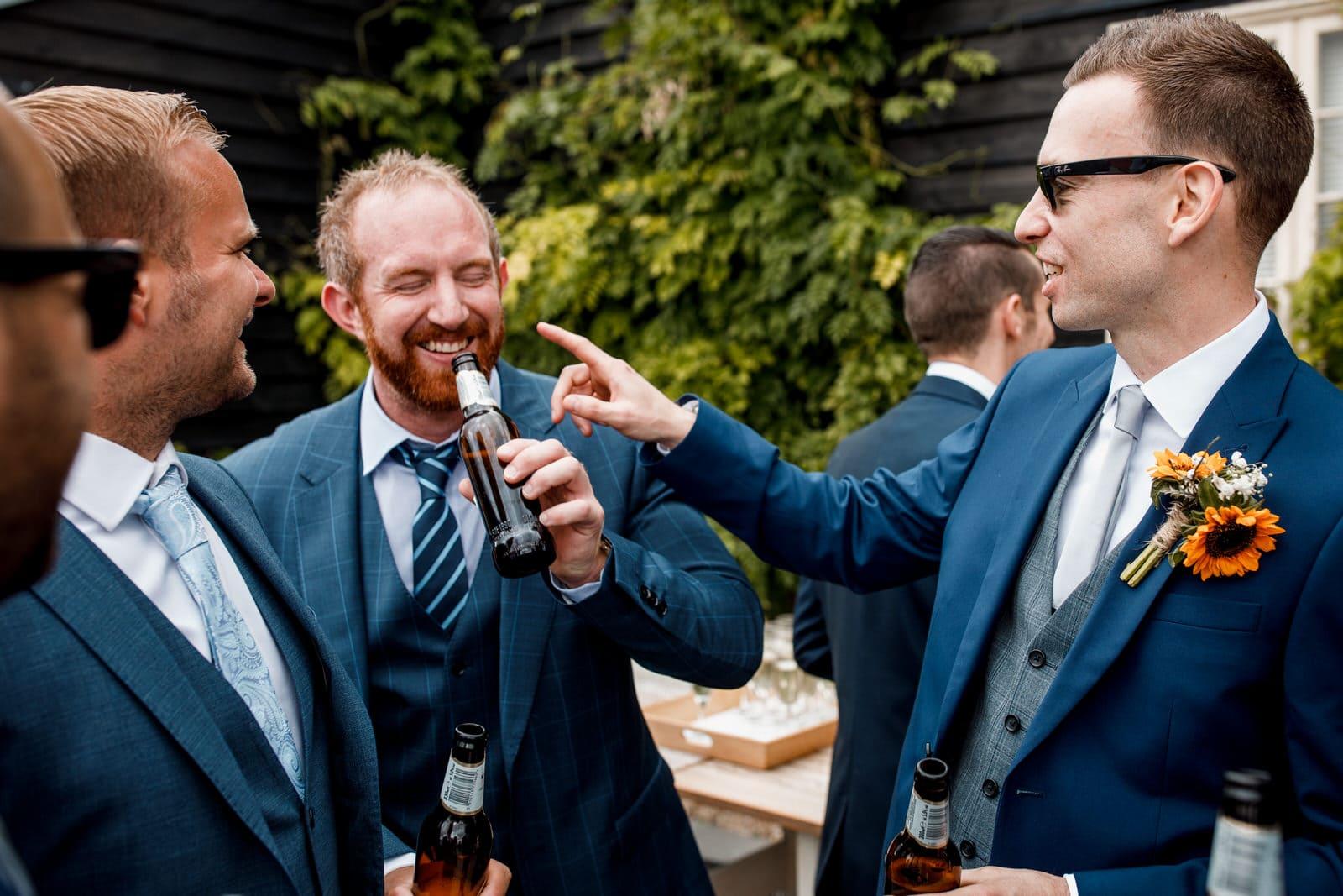 reception drinks at milling barn