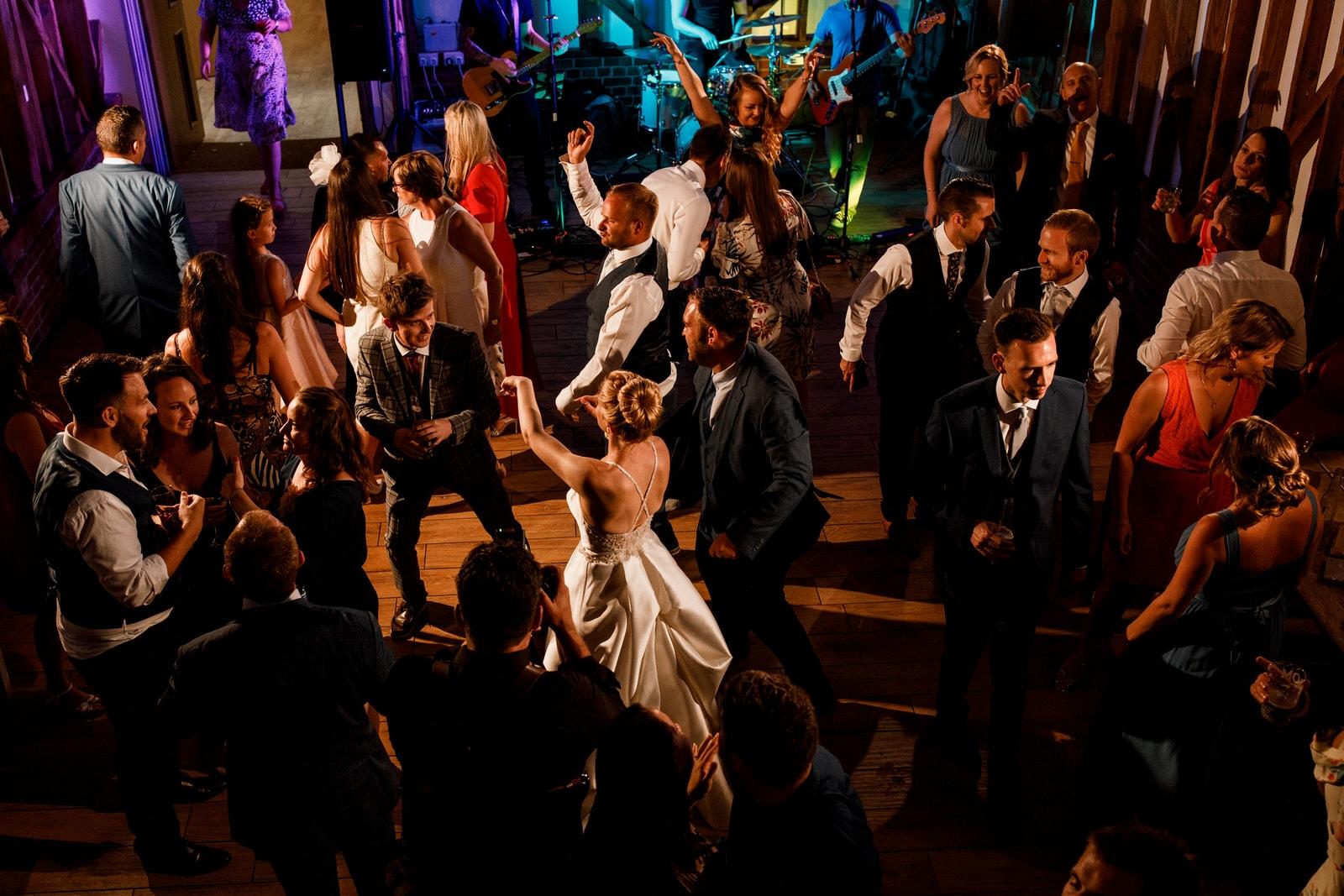 dancing at milling barn wedding