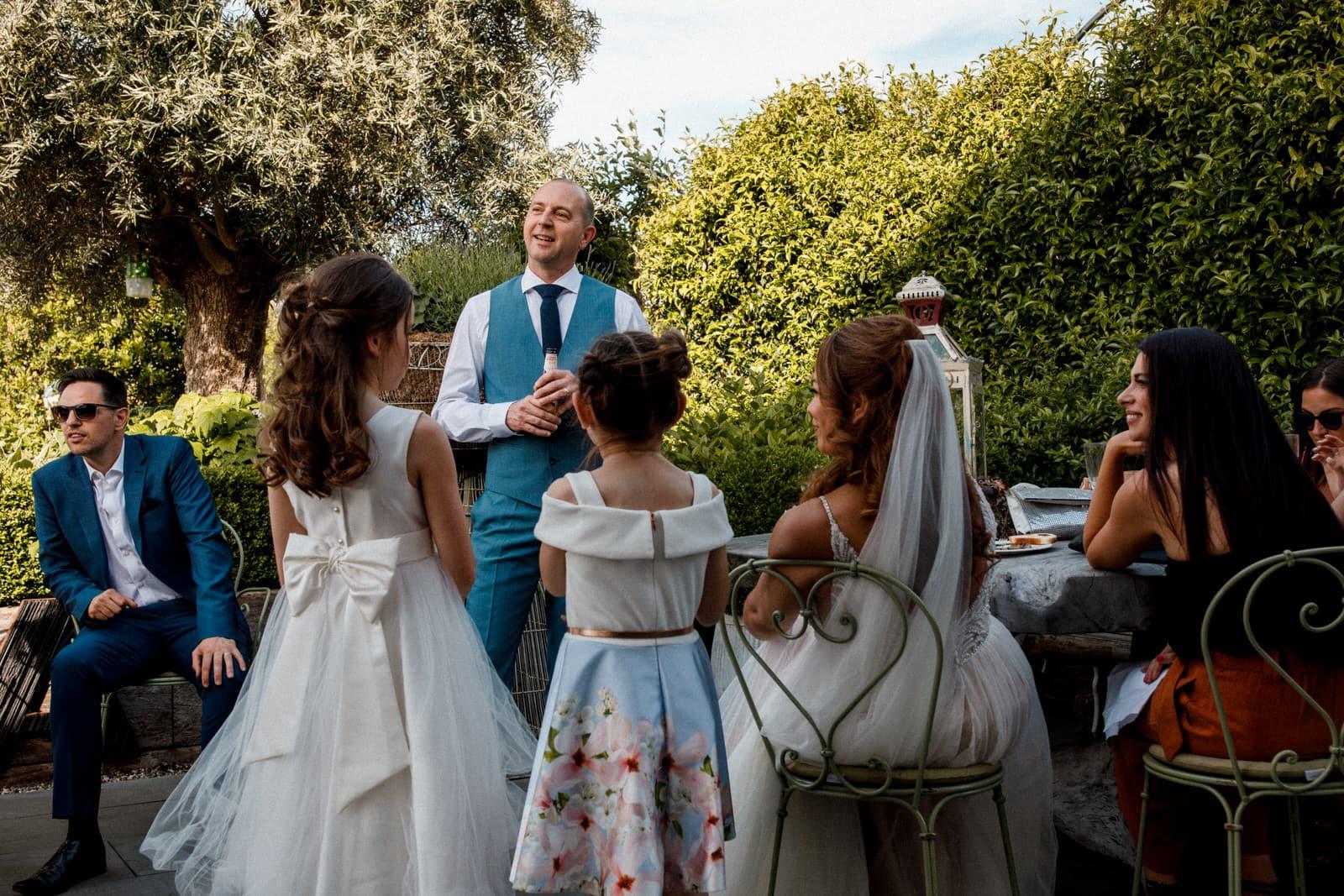 wedding speeches at ham yard hotel wedding