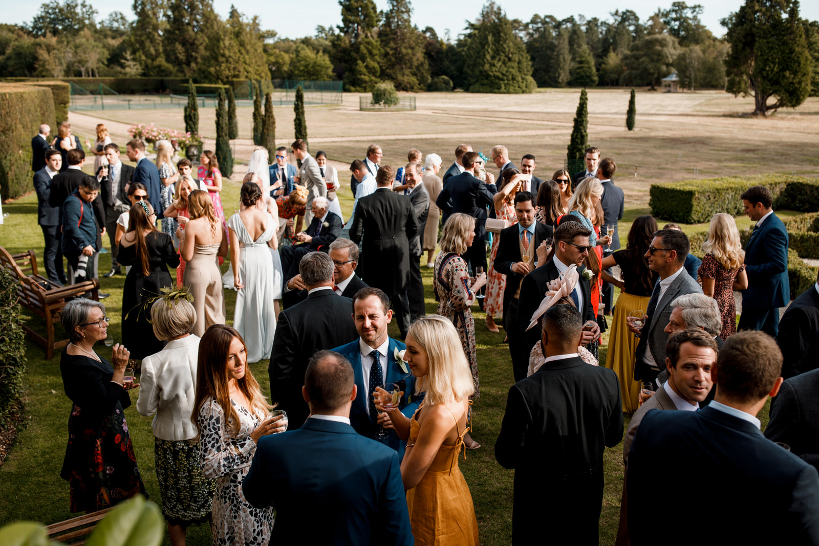 guests in garden at hedsor house