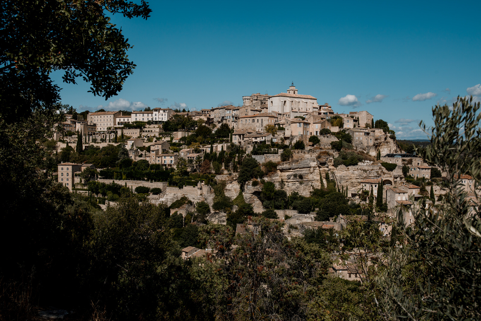 view from bedroom window of gordes