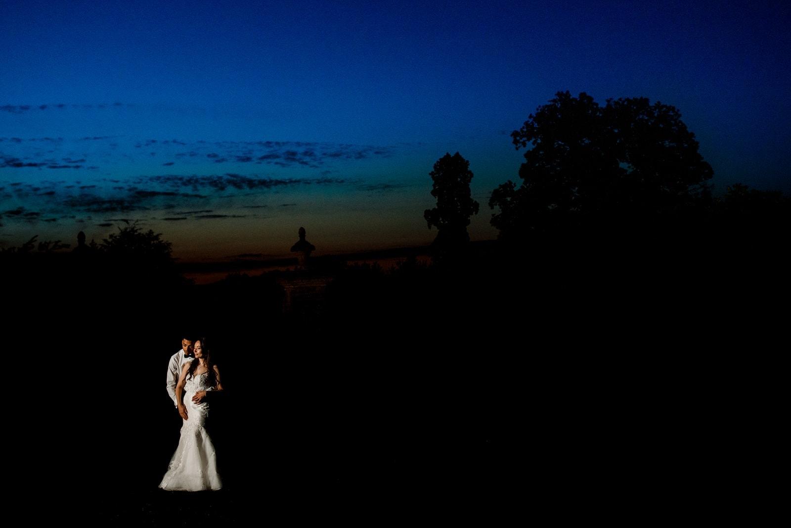 evening portrait for kent wedding