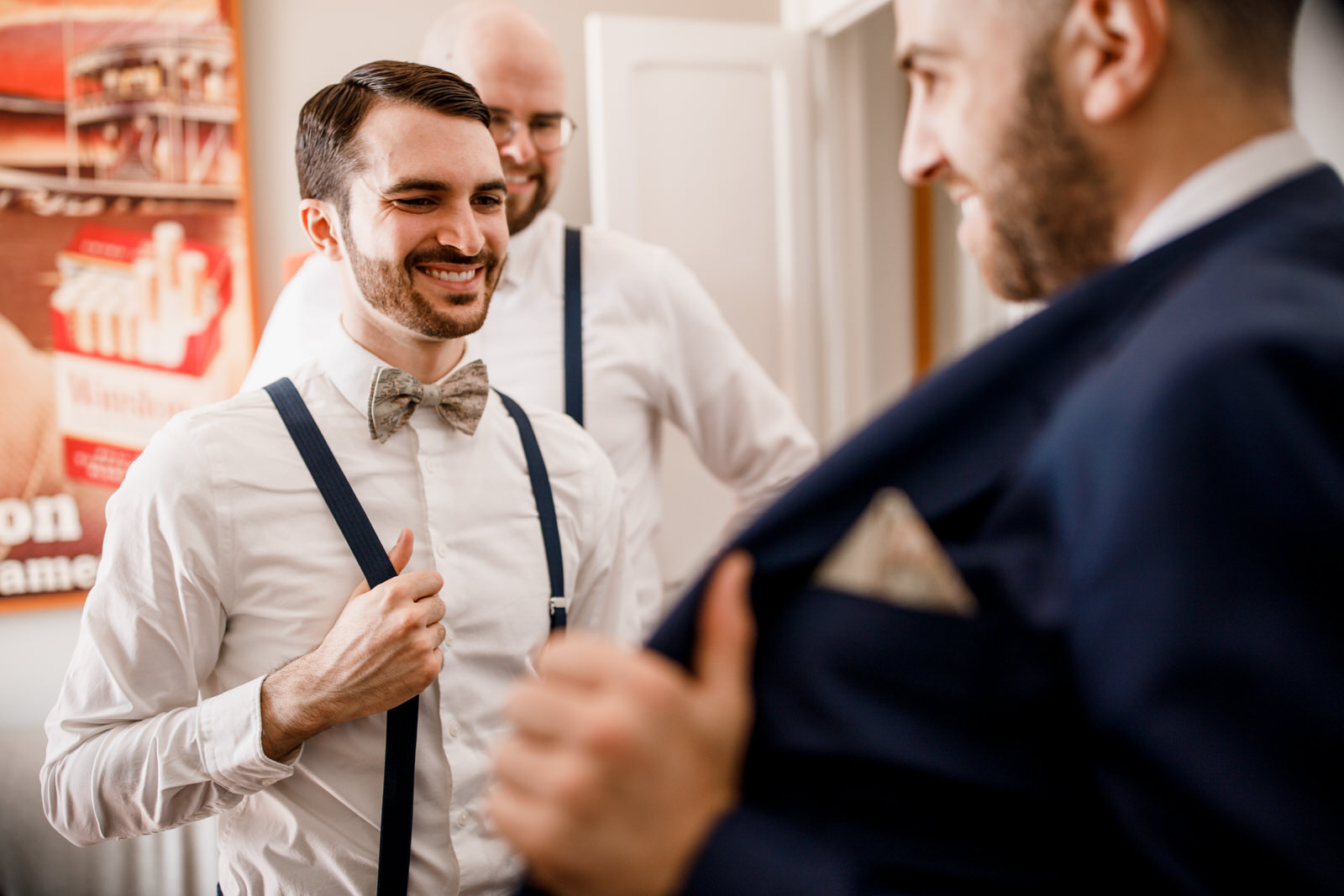 groom preparation before a wedding
