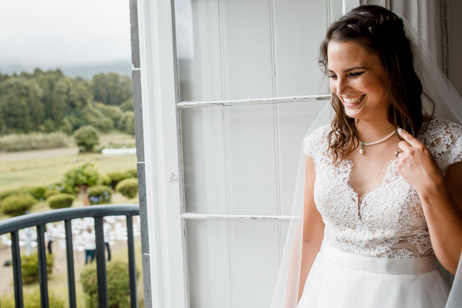 bridal portrait in ponta delgada