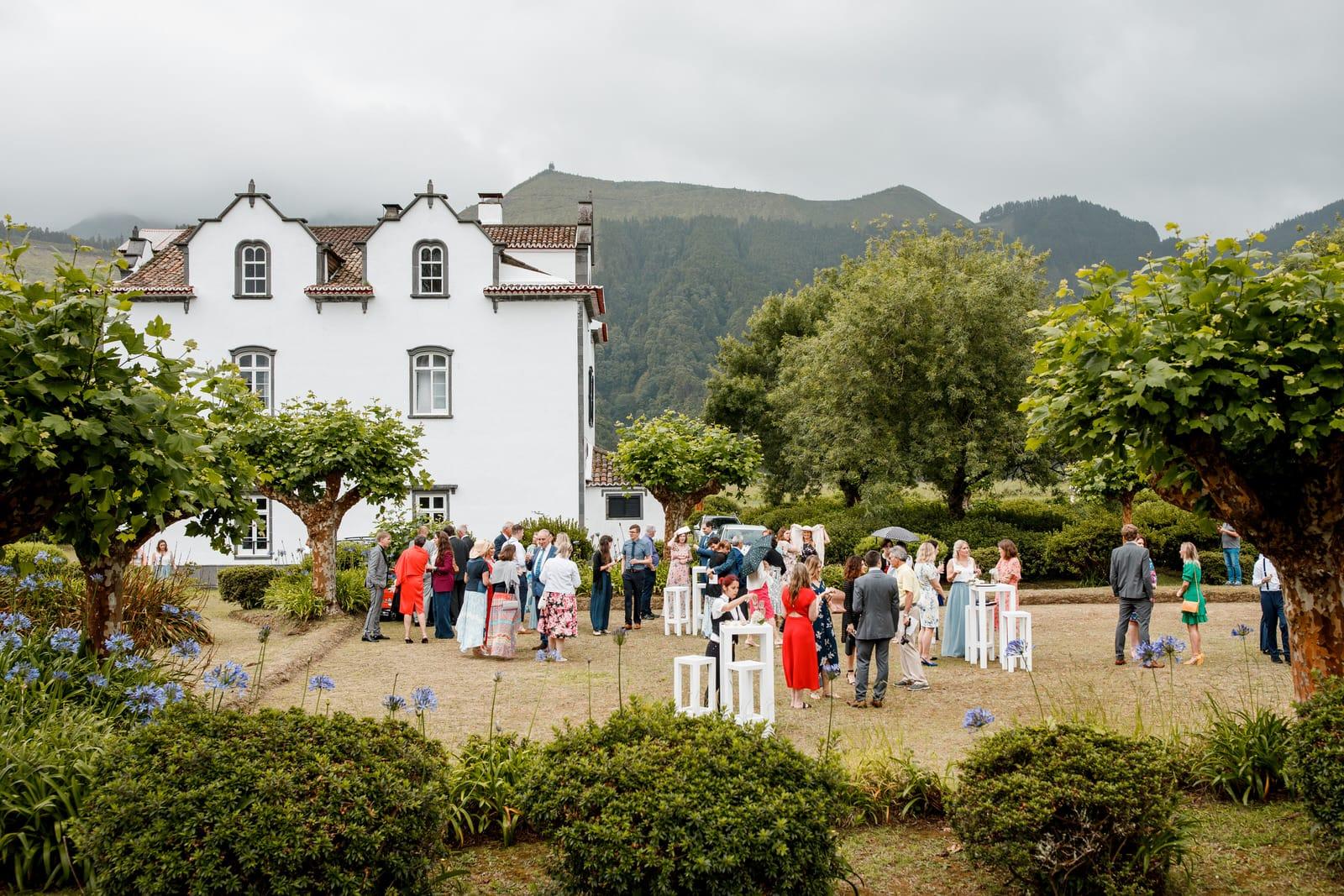 azores garden wedding
