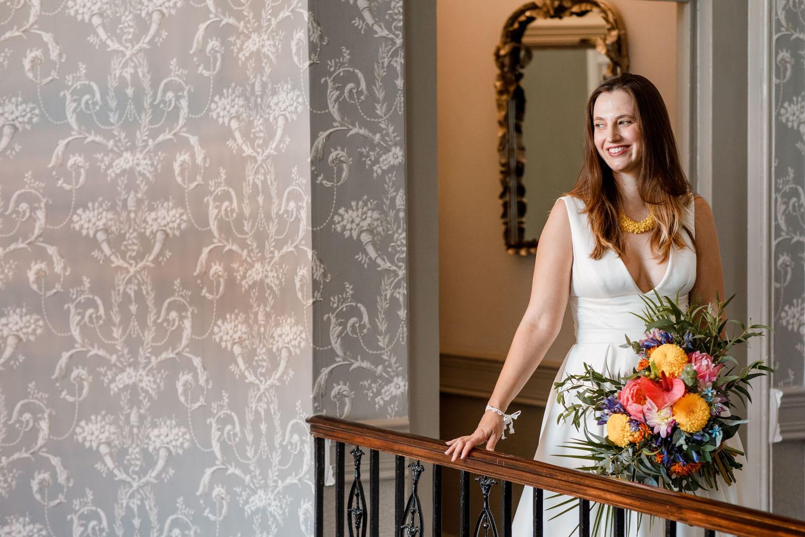 bridal portrait at de vere beaumont estate wedding