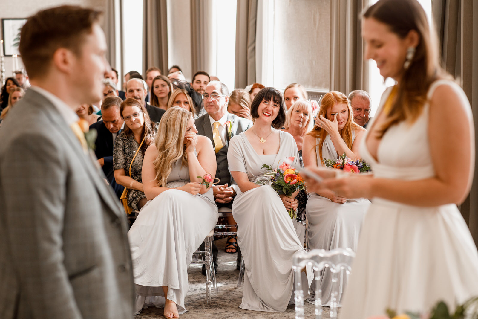 tears from guests at de vere beaumont estate wedding