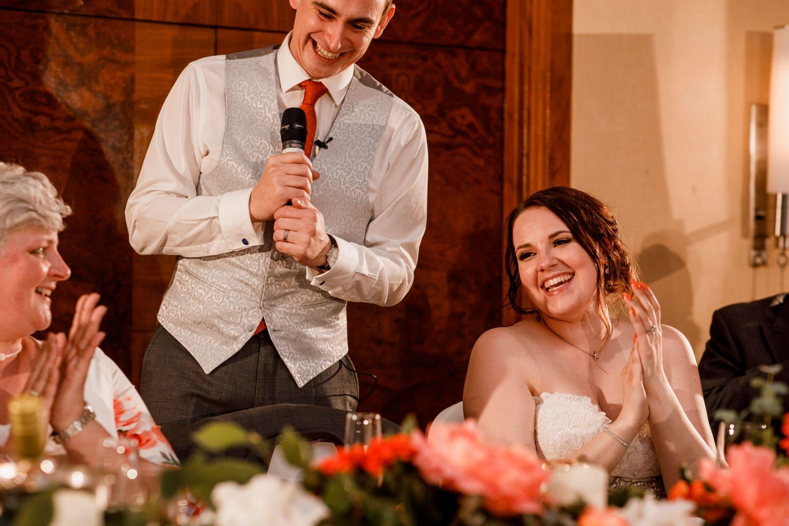 groom speech at london wedding