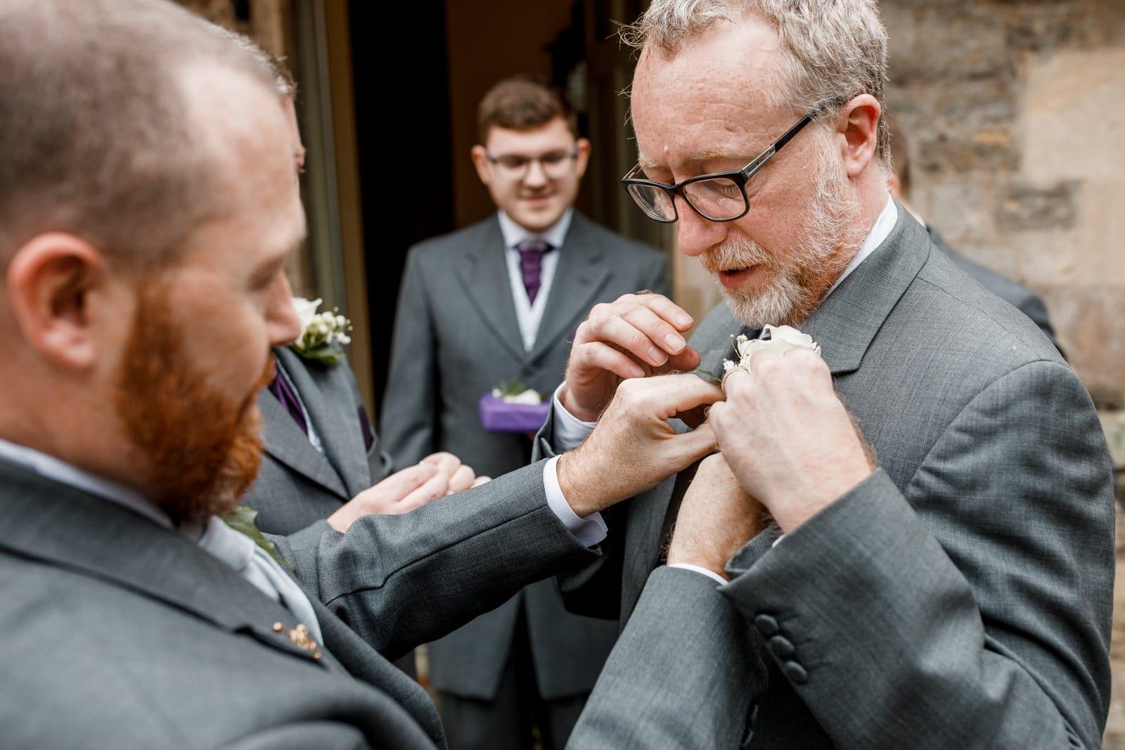 groom wedding preparation