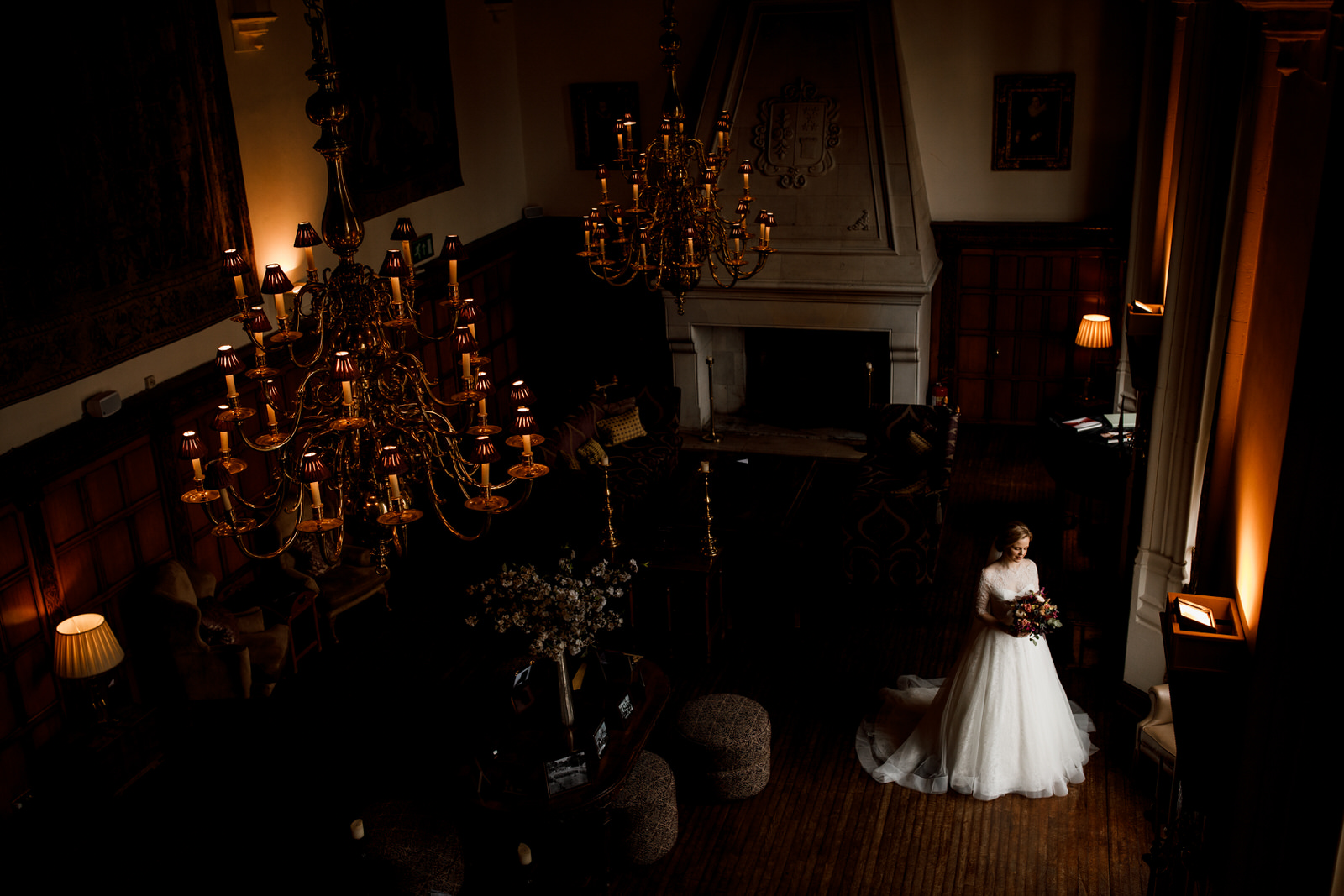 bride at danesfield house wedding