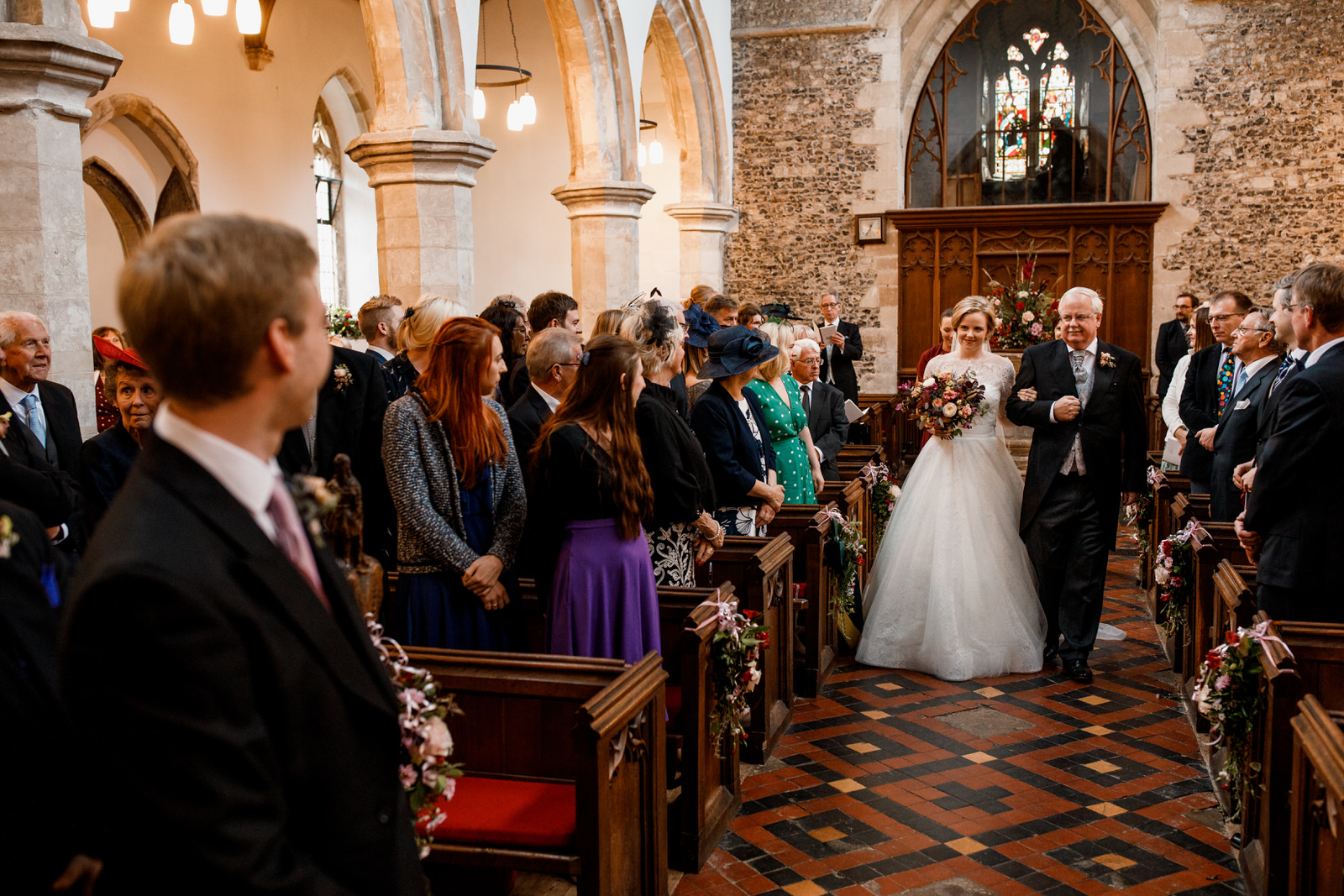 bride at st dunstans church